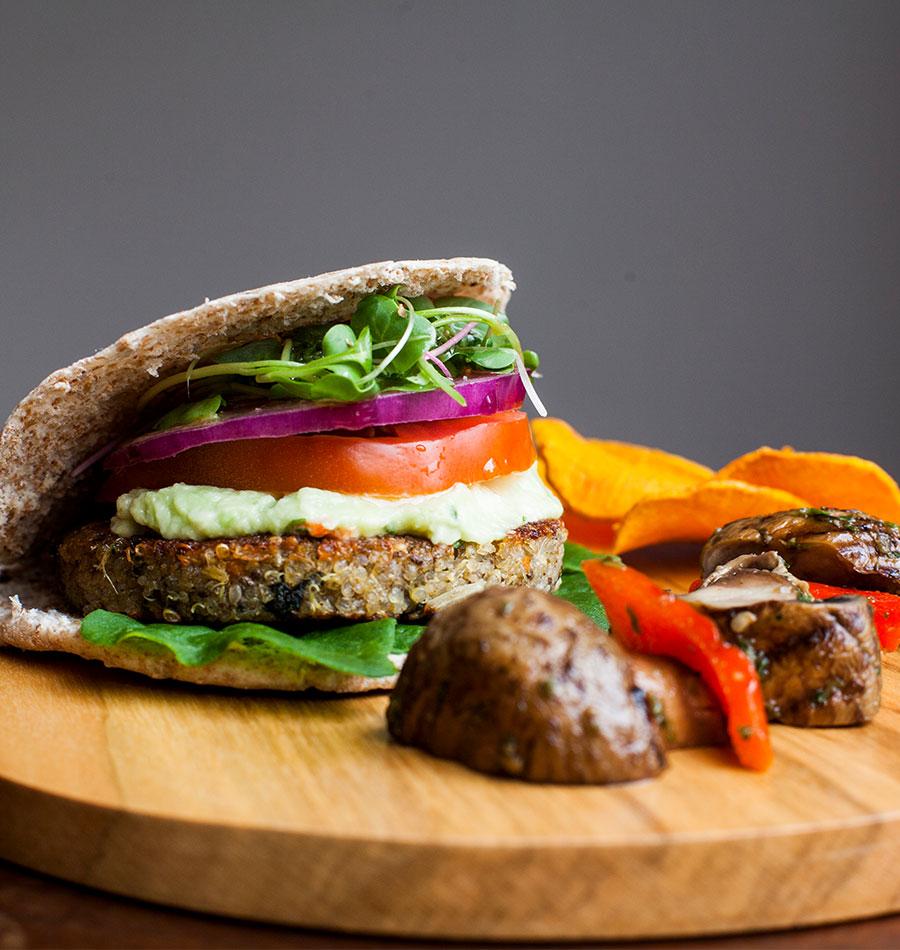 Quinua Burger Original con Espinaca y Ajonjolí – Pack x4